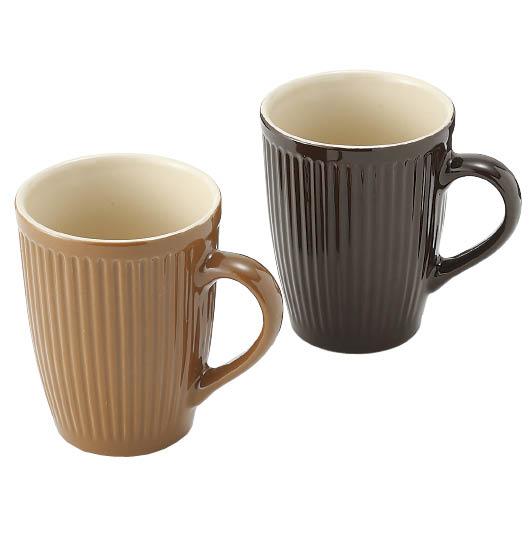 モダン縦ラインマグカップ