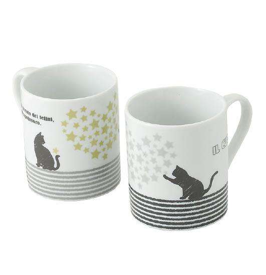 ハート&キャットマグカップ